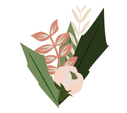 Leaves and branches illustration bouquet