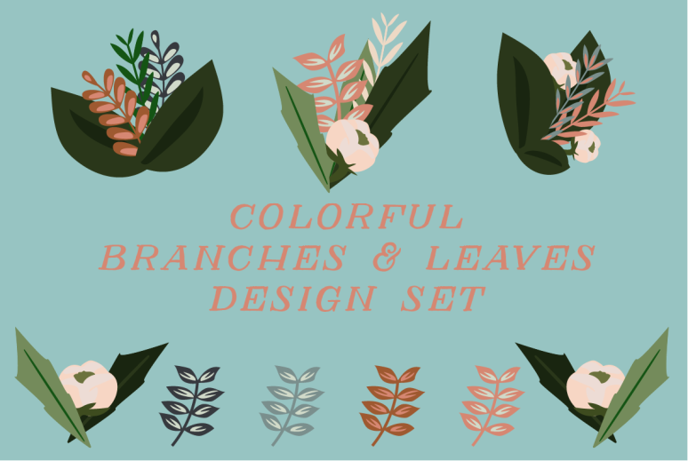 Leaves and branches set on Creative Market