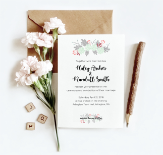 Floral wedding suite design for Skillshare