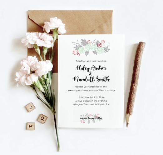 Floral wedding suite design for Skillshare