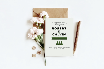 Wedding in the Woods invitation