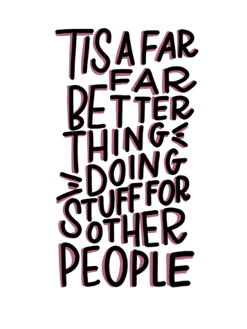 """""""'Tis a far far better thing doing stuff for other people."""" #cluelessincursive"""