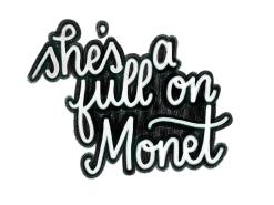 """She's a full on Monet."" #cluelessincursive"