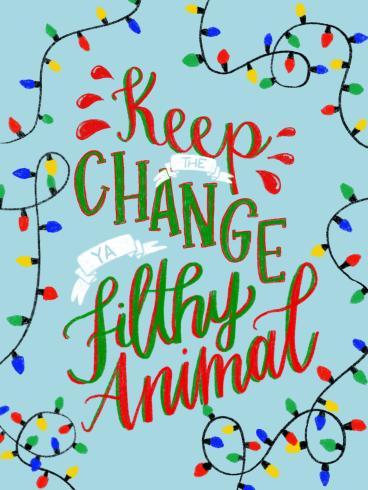 Hand lettered Christmas print