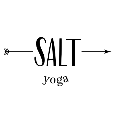 Hand lettered logo design for a small yoga business