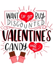 Hand lettered and illustrated funny Valentine's Day card